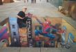 Julian Beever - Super bohaterowie - Spiderman